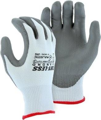 Majestic 37-343G Cut-Less Diamond Heavy Knit ANSI Cut Level 3 Gloves