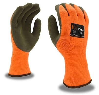 Cordova 3888 Ion-Chill Thermal Hi Vis Knit Gloves with Sandy Grip Palm