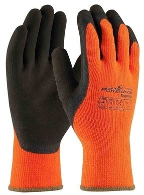 PIP PowerGrab Thermo 41-1400  Hi Vis Seamless Knit Gloves with MicroFinish Grip