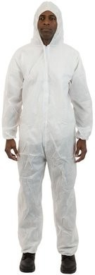 International Enviroguard 2215 SMS Coveralls - Elastic Cuffs and Attached Hood