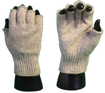Ragg Wool Fingerless Winter Gloves - SIZE LARGE ONLY