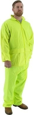 Majestic Hi Vis 2-Piece Waterproof Rain Suit with Hood