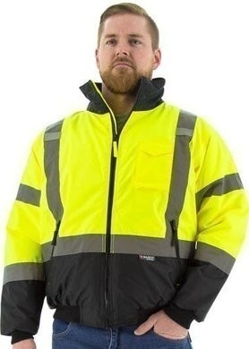 Majestic Hi Vis Waterproof Jacket with Quilted Liner - ANSI 3