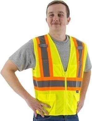 Majestic Hi-Vis Compliant Vest with Zipper - ANSI 2