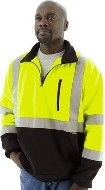 Majestic 75-5335/75-5336 Hi Vis Zip Sweatshirt with Teflon Fabric Protector - ANSI 3