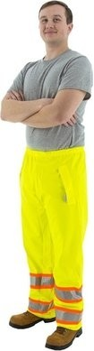 Majestic 75-7351 PU/Poly Hi Vis Waterproof DOT Waist Rain Pants
