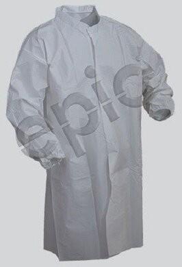 Tian's Tyvek-like Cleanroom Lab Coat - No Pockets