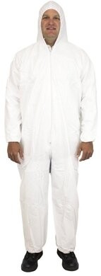 Safety Zone 60 Gram Microporous Tyvek-like Coveralls with Hood & Elastic Wrists