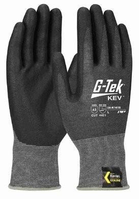 PIP G-Tek 09-K1618 Seamless Knit Kevlar/Nitrile Coated Cut Level 4 TouchScreen Gloves