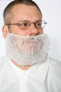 Safety Zone Polypropylene White Beard Covers
