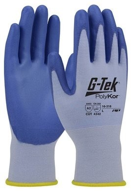 PIP G-Tek 16-318 Seamless Knit Polykor Blended Polyurethane Coated Cut Level 3 Gloves With Smooth Grip