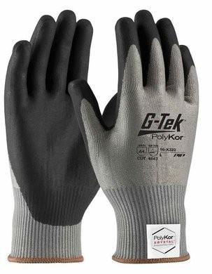 PIP G-Tek 16-X320 Polykor Xrystal Blended Nitrile Coated Cut Level 5 Gloves With Foam Grip