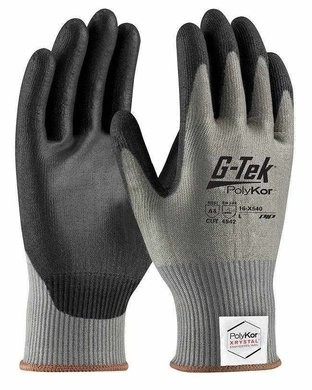 PIP G-Tek 16-X540 13 Gauge Polykor Xrystal Blended PU Coated Cut Level 5 Gloves