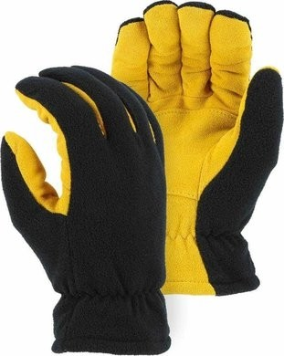 Majestic 1664 Winter Deerskin/Fleece Drivers Gloves