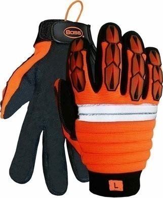 Boss 1JM400 Hi-Vis Impact Gloves