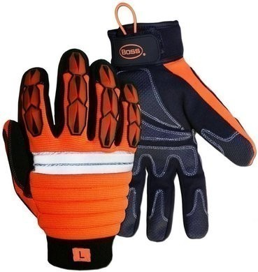 Boss 1JM650 Hi-Vis Impact Thinsulate Lined Gloves