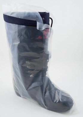 Safety Zone Polyethylene Shoe Covers with Ties - XL