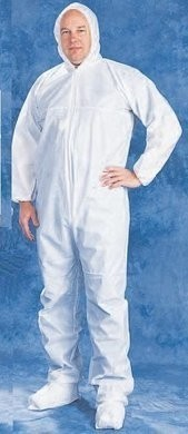 Tian's Microporous White Coveralls with Hood and Boots - ONE CASE LIMIT