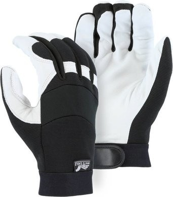 Majestic 2153T White Eagle Goatskin Mechanics Gloves with Thinsulate Lining