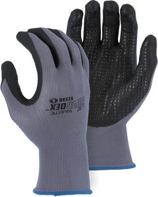 Majestic 3228D SuperDex Nitrile Palm Coated Dotted Gloves