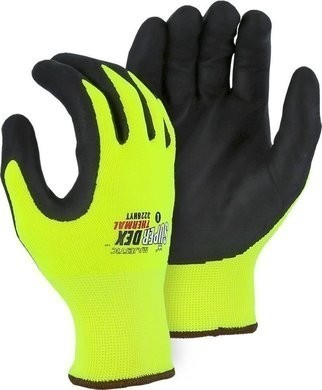 Majestic 3228HYT SuperDex Cold Weather Insulated Hi Vis Yellow Gloves