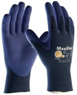 PIP 34-244 MaxiFlex Elite Nitrile Foam Dotted Palm Coated Gloves