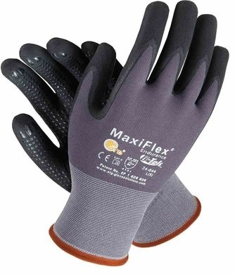 PIP MaxiFlex Endurance 34-844 Nitrile Coated Micro Foam Grip with Dotted Palm Gloves