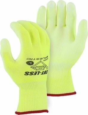 Majestic 35-445Y Cut-Less Watchdog Hi Vis Gloves - ANSI Cut Level A4