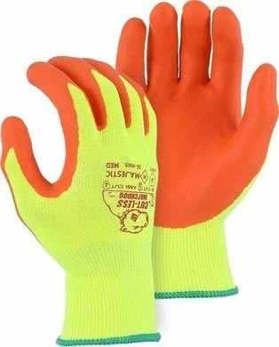 Majestic 35-4565 Hi Vis Cut Level 5 Gloves