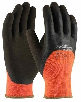 PIP Powergrab 41-1475 Thermo Hi-Vis Seamless Knit Acrylic Terry Gloves
