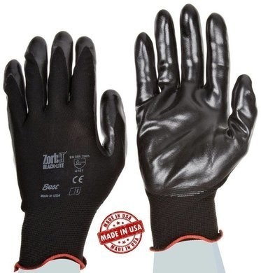 Showa TAA 4540 Zorb-It Black-Lite Gloves Made in USA