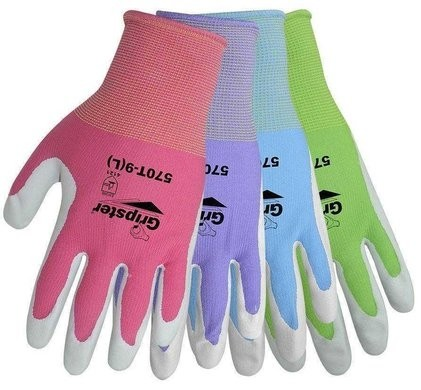 "Global Glove ""Atlas 370 Style"" 570T Gripster Nitrile Dipped Gloves in 4 Assorted Colors"