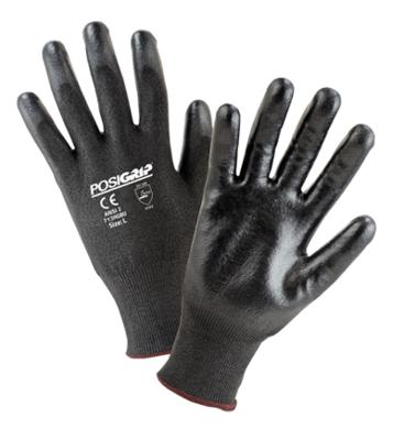 West Chester 713HGBU Black PosiGrip Cut Resistant ANSI 2 Gloves