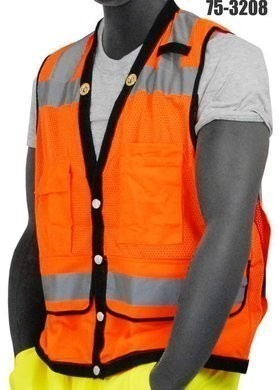Majestic 75-3207/3208 Hi-Vis Heavy Duty Compliant Vest - ANSI 2