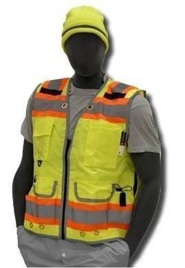 Majestic  Hi Vis Premium Heavy Duty Surveyor's Vest ANSI 2