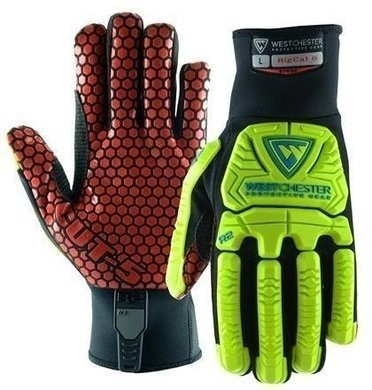 West Chester R2 87030 Rigger Glove with Cut Resistant Silicone Palm