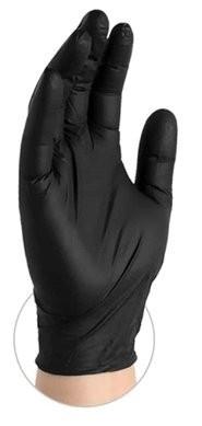 Ammex Premium 4 Mil Black Nitrile Exam Powder Free Gloves
