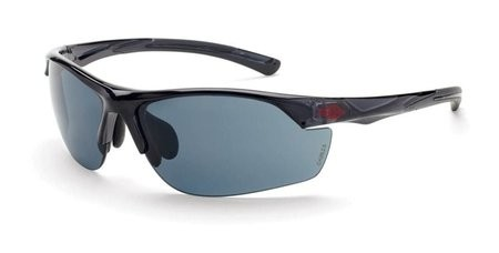 Crossfire AR3 16428 Super Dark Smoke Lens, Crystal Black Frame Safety Glasses
