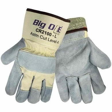 Global Glove CR2100 Big Ole Cut Resistant Leather Palm Gloves