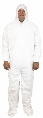 Safety Zone 60 Gram Microporous Tyvek-like Coveralls with Hood and Boot