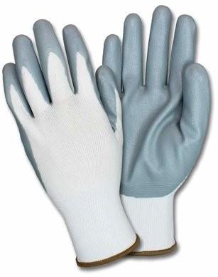 Safety Zone G-Nidex-GF Gray Nitrile Foam-Dipped Nylon Gloves