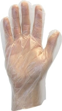 Safety Zone Polyethylene Economy Food Handling Gloves - Size Large Only