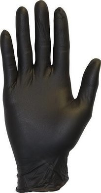 Safety Zone GNEP-K Black Nitrile Exam Powder Free Gloves