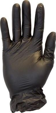 Safety Zone GVP9-1C-K Premium Black Vinyl Powder Free Gloves - SIZE MEDIUM ONLY