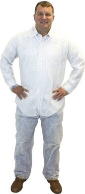 Safety Zone Polypropylene Coveralls with Open Wrists and Ankles - COLOR WHITE ONLY