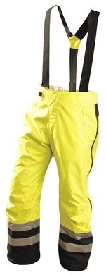 Occunomix Premium Waterproof Rain Pants with Detachable Suspenders - ANSI 3