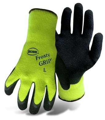 Boss 8439N Hi Vis Frosty Grip Gloves