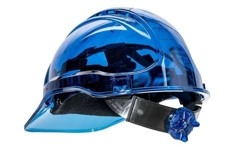 Portwest PV64 Peak View Plus Ratchet Hard Hat - Non Vented, UV Protection
