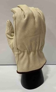 Pigskin Leather Winter Lined Driver Gloves