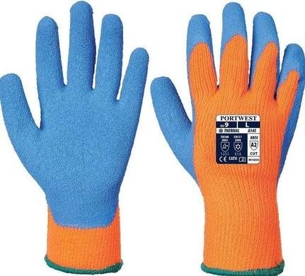 Portwest A145 Hi Vis Cut 2 Cold Grip Gloves